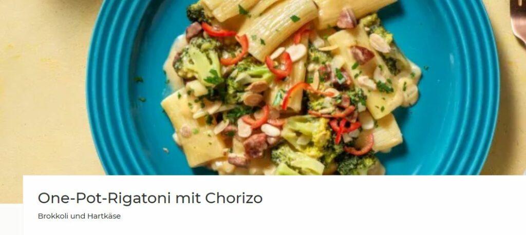 One-Pot-Rigatoni mit Chorizo