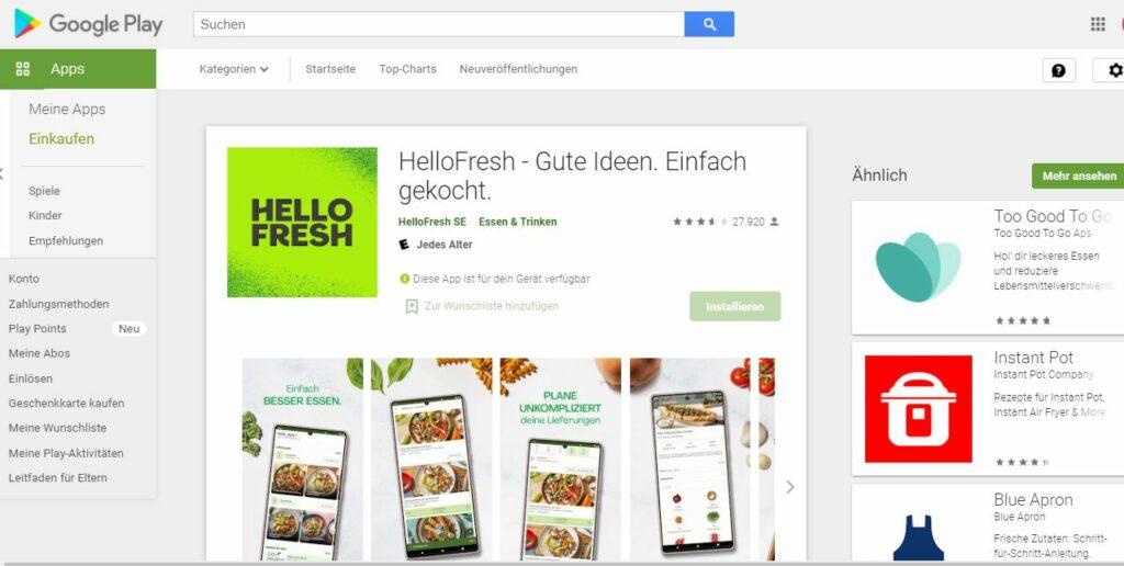 HelloFresh Android App