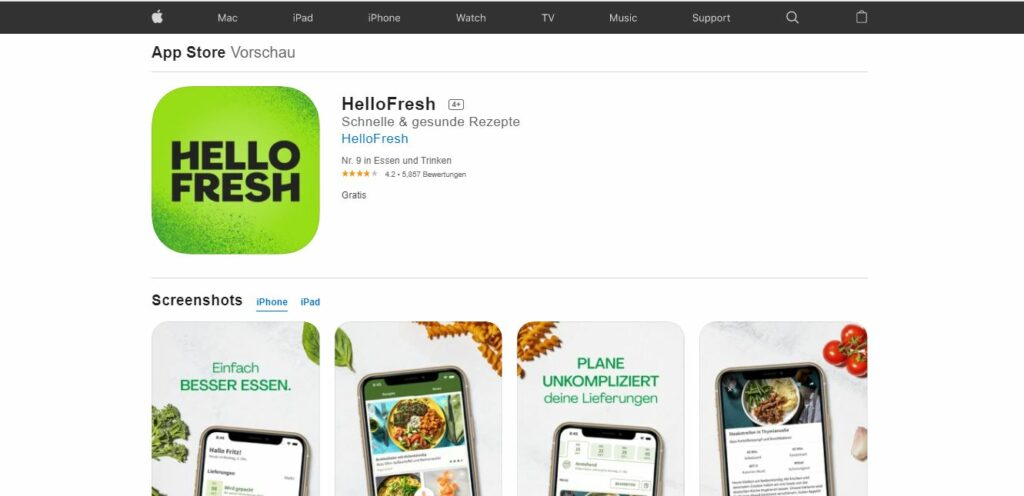 HelloFresh iOS App