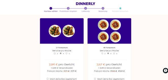 Dinnerly 4 Gerichte