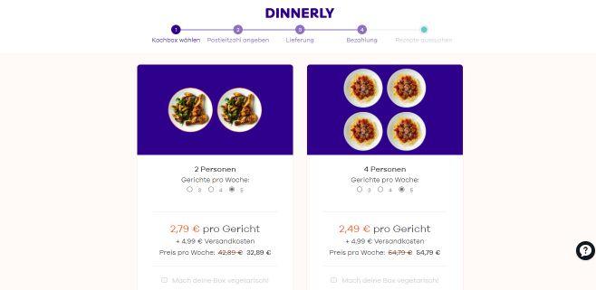 Dinnerly 5 Gerichte