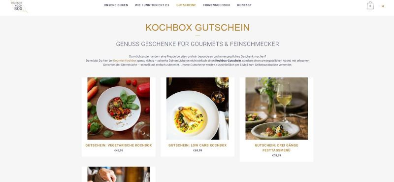 Gourmetkochbox-Gutschein